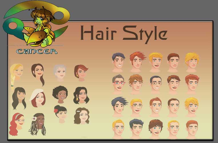 Cancer Hairstyles Zodiac Cancer Sign